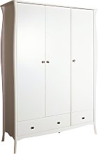 Amelie 3 Door 2 Drawer Wardrobe - White