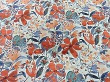 Amelie Burnt Orange Chess Designs Curtain/Craft