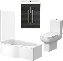 Amelie P Shape Bathroom Suite Left Hand -