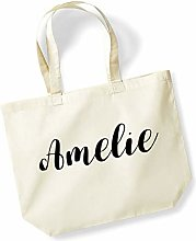 Amelie Personalised Shopping Tote in Natural