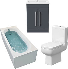 Amelie Single Ended 1700x700 Curved Bathroom Suite