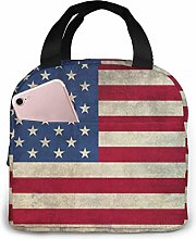 America Flag Retro Reusable Lunch Bags Leakproof