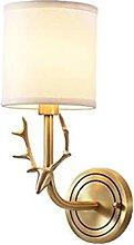 American All Copper Deer Head Wall Light,Modern