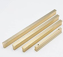 American Brushed Gold Black Cabinet Handles T Bar