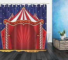 American Carnival Circus Shower Curtain Set