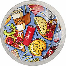 American Delicious Fat Food Pattern Crystal Glass