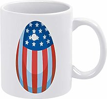 American Easter Egg Coffee Mug Funny Ceramic