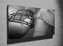 American Football Photo Canvas Print (11347392)