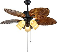 American Industrial Fan Ceiling Light with Remote