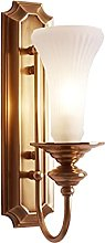 American Modern Indoor Wall Light,All Copper