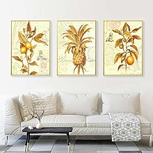 American Style Painting Golden Flower Wall Art