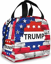 American USA Trump Flag Insulated Lunch Bag