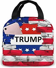 American USA Trump Flag Reusable Lunch Bags