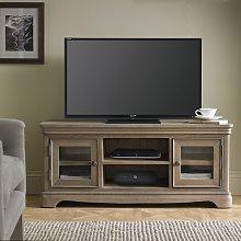 Ametis Wooden Plasma TV Stand In Grey Washed Oak