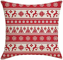 AMhomely Christmas Linen Skin Pillow Case Pillow