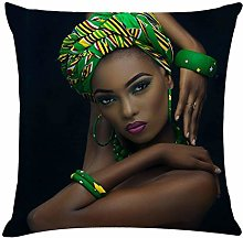 AMhomely Home Decor Cushion Cover African Women