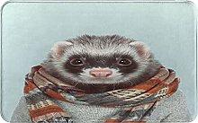 AMIGGOO Entrance Rug Floor Mats,Cute Hamster With