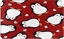 AMIGGOO Entrance Rug Floor Mats,Cute Penguin With