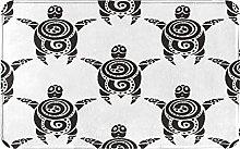 AMIGGOO Entrance Rug Floor Mats,Pattern With Sea