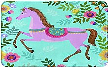 AMIGGOO Entrance Rug Floor Mats,Pink Horse With
