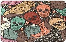 AMIGGOO Entrance Rug Floor Mats,Skull With