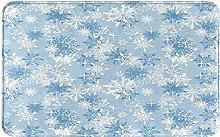 AMIGGOO Entrance Rug Floor Mats,Snowflakes