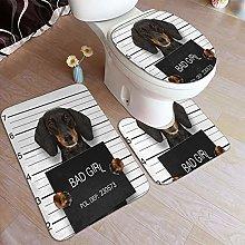 AMIGGOO Home Bath Rug Sets 3 Piece for Bathroom,