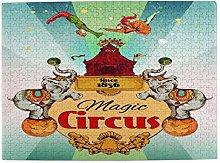 AMIGGOO Jigsaw Puzzles 500 Pieces,Magic Traveling