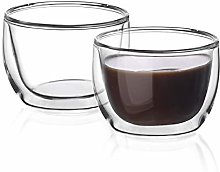 Amisglass Espresso Cups Shot Glass Coffee Set of