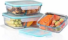 Amisglass Glass Food Storage Containers with Lids,