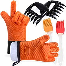Amison BBQ Grilling Gloves Heat Resistant with