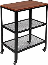 AMLY 3-TIer Kitchen Microwave Cart, Rolling