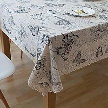 Amody Rectangle Tablecloth Cotton Linen, Table