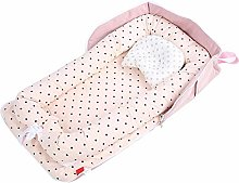AMONIDA Textile Baby Crib, Baby Bed, Washable for