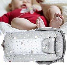 AMONIDA Textile Baby Crib, Baby Bed, Washable for