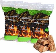 AMOS Kiln Dried Wood Logs Less Than 20% Moisture