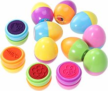 Amosfun 12PCS Self Inking Easter Egg Stamper for