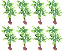 Amosfun 25pcs Coconut Tree Cake Topper Hawaii