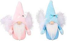 Amosfun 2pcs Christmas Faceless Doll Decoration