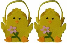 Amosfun 2pcs Easter Egg Bags Easter Candy Tote Bag