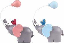 Amosfun 2pcs Resin Cake Figurine Cute Balloon