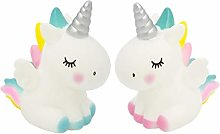 Amosfun 2Pcs Unicorn Cake Topper Ornament Rainbow