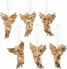 Amosfun 30pcs Christmas Tree Angle Ornaments