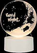 Amosfun 3D LED Night Light Good Night Romantic