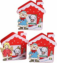 Amosfun 3pcs Christmas Pen Pencil Holder Desk