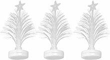 Amosfun 3pcs Fiber Optic Christmas Tree LED Mini
