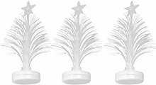 Amosfun 3pcs Fiber Optic Christmas Tree LED Mini