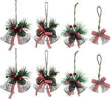 Amosfun 4pcs Christmas Bells Ornaments Christmas