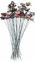 Amosfun 50pcs 3D Artificial Butterfly Decorative