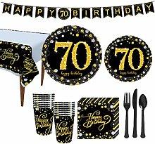 Amosfun 70th Birthday Party Supplies 30th Birthday